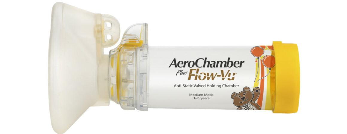 AeroChamber Plus Flow-Vu mit Kindermaske Produktabbildung