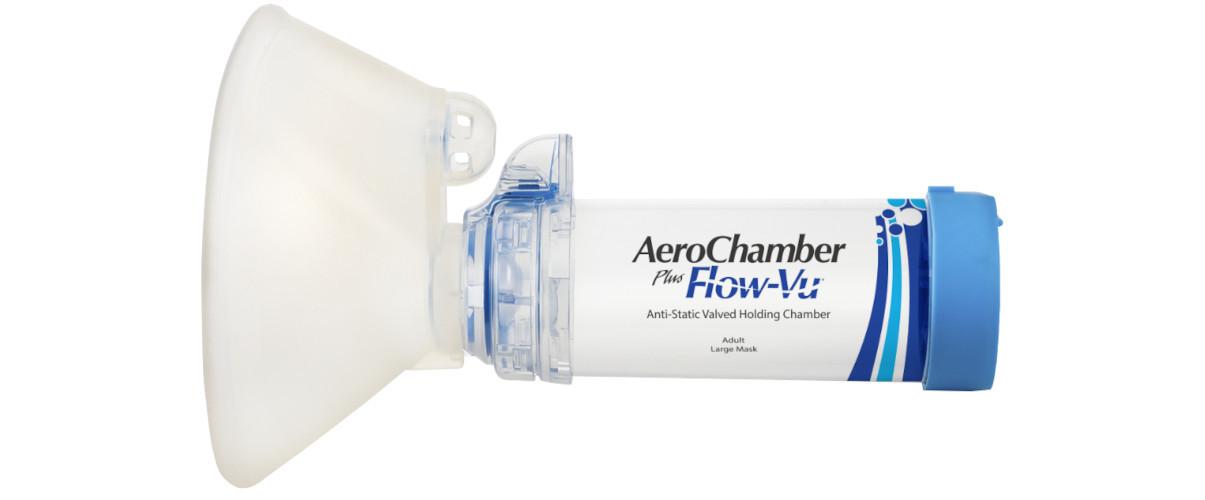 AeroChamber Plus Flow-Vu mit Erwachsenenmaske Produktabbildung